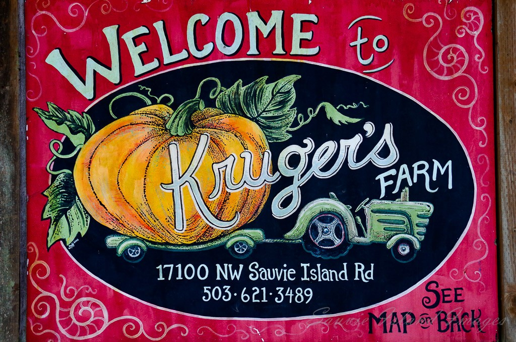 Kruegers farm sign