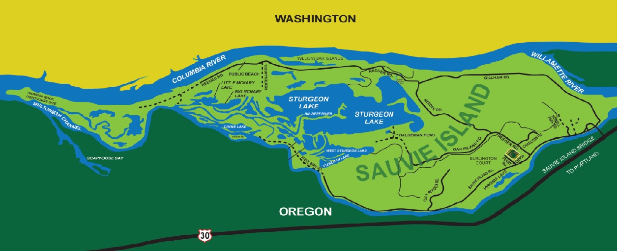 ODFW Sauvie Island Map