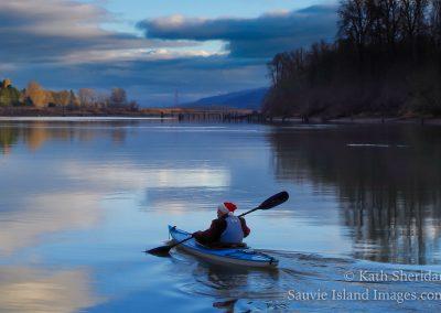 Santa visits the houseboats